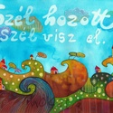 Szél hozott - A3-as méretű nyomat, Képzőművészet, Festmény, Akvarell, A3-as (29,7 x 42 cm) művészi nyomat, szignózva. 300 g -os műnyomó papíron Két A3-as vastag karton kö..., Meska