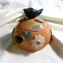 Kis bonbonier, Konyhafelszerelés, Képzőművészet, Bögre, csésze, Teljes értékű használati tárgy, kézzel festett egyedi darab. A színtelen, fényes máz alatt oxidokkal..., Meska