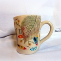 Bögre- Mini univerzum, Konyhafelszerelés, Képzőművészet, Bögre, csésze, Teljes értékű használati tárgy, kézzel formázott, festett egyedi darab. A színtelen, fényes máz alat..., Meska