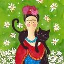 Frida- A4-as méretű nyomat, A4-es méretű (21 x30 cm) művészi nyomat, szign...