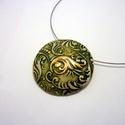 Zöld elegancia nyaklánc- 5. elem kerámiaékszer , Az 5. elem kerámiaékszereim fehér agyagból ké...