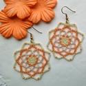 Mandala-virág fülbevaló, Ékszer, Szerelmeseknek, Fülbevaló, Szeretem amikor a jól kiválasztott színek és formák harmonikus egységet alkotnak. :) Bármilyen manda..., Meska