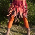 """Rojtos hippi-szoknya, Ruha, divat, cipő, Női ruha, Szoknya, Hippi stílusú szoknya, saját tervezés és készítés. Kordbársony darabokból varrtam,"""" rongyo..., Meska"""