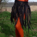 Nemezelt, hippis gyapjúszoknya, Ruha, divat, cipő, Női ruha, Szoknya, Körbekötős szoknya vagány lányoknak - csak természetesen :) Saját tervezés és készítés. ..., Meska