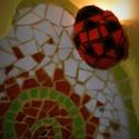 Csempemozaik, Dekoráció, Otthon, lakberendezés, Mindenmás, Furcsaságok, Mozaik, Újrahasznosított alapanyagból készült termékek, Konyhai vizesblokkra és tűzhely köré készült a mese-mozaik színes, törött csempékből. A katicabogár..., Meska