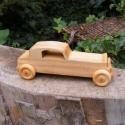 Játék fakocsi, Játék, Fajáték, Juharfából készült fajáték. Mérete:18x6x6cm, Meska