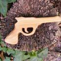 Játék fa pisztoly, Játék, Fajáték, Tölgyfából készült fa pisztoly. Mérete:23x12x2cm, Meska