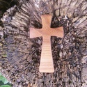 Fakereszt , Mindenmás, Vallási tárgyak, Szilfából készült, falra akasztható kereszt. Mérete:13x7.5x2cm, Meska