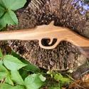 Játék fa pisztoly, Játék, Fajáték, Diófából készült fa pisztoly. Mérete:33x12x2cm, Meska