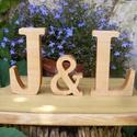 Fa betű, Otthon, lakberendezés, Famegmunkálás, Juharfából készült betűk. Méret:  betűk-13 cm, & jel -10 cm Az ár a három darab betűre vonatkozik. ..., Meska