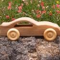 fa sportkocsi, Játék, Fajáték, Famegmunkálás, Platánfából készült fajáték. Mérete:15x5x6cm, Meska