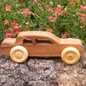 Játék fakocsi, Játék, Fajáték, Famegmunkálás, Szilfából készült fajáték. Mérete:14x5x5cm, Meska
