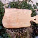 Kőrisfa  vágódeszka, lapító, Konyhafelszerelés, Vágódeszka, Egy darab keményfából / kőrisfa/ készült  vágódeszka, nem ragasztott, egy darabból van.    ..., Meska