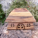Fa házikó,fa építő, Játék, Fajáték, Készségfejlesztő játék, Famegmunkálás, Diófából készült, szétszedhető gyerekjáték, vagy  szobadísz. Színtelen olajjal kezelve. Mérete:12x8..., Meska