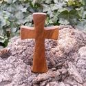 Fakereszt , Mindenmás, Vallási tárgyak, Diófából készült, falra akasztható kereszt. Mérete:13x7.5x2cm, Meska