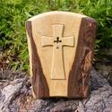Fakereszt , Mindenmás, Vallási tárgyak, Diófából készült, falra akasztható kereszt. Mérete:24x19x2cm, Meska