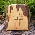 Fakereszt , Mindenmás, Vallási tárgyak, Diófából készült, falra akasztható kereszt. Mérete:23x22x2cm, Meska