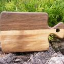 fa  vágódeszka, lapító, Konyhafelszerelés, Vágódeszka, Famegmunkálás, Egy darab keményfából / diófa/ készült  vágódeszka. Nem ragasztott. Mérete: 33x21x2cm   , Meska