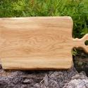 fa  vágódeszka, lapító, Konyhafelszerelés, Vágódeszka, Famegmunkálás, Egy darab keményfából / tölgyfa/ készült  vágódeszka. Nem ragasztott. Mérete: 38x21x2cm   , Meska