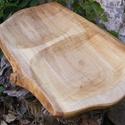 fatál, fa tál, fa tálca, fa kínáló, Konyhafelszerelés, Vágódeszka, Hegyijuharfából készült fatál.  Mérete: 61x36x2,5 cm   , Meska