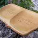 fatál, fa tál, fa tálca, fa kínáló, Konyhafelszerelés, Vágódeszka, Tólgyfából készült fatál.  Mérete: 43x25x2,2 cm   , Meska