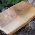 fatál, fa tál, fa tálca, fa kínáló, Konyhafelszerelés, Vágódeszka, Hegyijuharfából készült fatál.  Mérete: 41x27x2,5 cm   , Meska