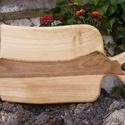 fa  vágódeszka, lapító, Konyhafelszerelés, Vágódeszka, Famegmunkálás, Egy darab keményfából / diófa/ készült  vágódeszka. Mérete: 34x19x2cm Színtelen olajjal kezelve.  , Meska