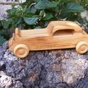 Játék fakocsi, fa autó, Játék, Fajáték, Famegmunkálás, Hársfából készült fajáték. Mérete:18x6x6cm, Meska