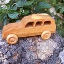 Játék fakocsi, fa autó, Játék, Fajáték, Famegmunkálás, Cseresznyefából készült fajáték. Mérete:16,5x7x6cm, Meska
