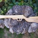 Játék fapuska, Játék, Fajáték, Juharából készült fajáték. Színtelen olajjal kezelve. Mérete:59x12x2cm , Meska