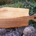 fa  vágódeszka, lapító, Konyhafelszerelés, Vágódeszka, Famegmunkálás, Egy darab keményfából /diófa/ készült  vágódeszka. Nem ragasztott, nagyon tartós. Mérete: 41x21x2cm..., Meska