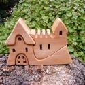 Fa házikó, fa vár, fa építő, Játék, Fajáték, Készségfejlesztő játék, Platánfából készült, szétszedhető gyerekjáték, vagy  szobadísz. Színtelen olajjal kezelve..., Meska