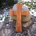 Fakereszt , Mindenmás, Vallási tárgyak, Almafából készült, falra akasztható kereszt. Mérete:19x12x2cm, Meska