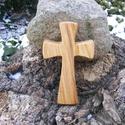 Fakereszt , Mindenmás, Vallási tárgyak, Hegyijuharfából készült, falra akasztható kereszt. Mérete:13x7.5x2cm, Meska
