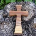 Fakereszt , Mindenmás, Vallási tárgyak, Szilfából készült, falra akasztható kereszt. Mérete:19x12x2cm, Meska