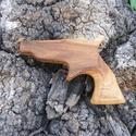 Játék fa pisztoly, Játék, Fajáték, Szilfából készült fa pisztoly. Mérete:14x10x2cm, Meska