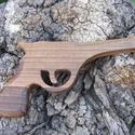 Játék fa pisztoly, Játék, Fajáték, Diófából készült fa pisztoly. Mérete:23x12x2cm, Meska