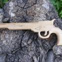 Játék fa pisztoly, Játék, Fajáték, Juharfából készült fa pisztoly. Mérete:34x12x2cm, Meska