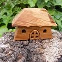 Fa házikó, fa építő, Játék, Fajáték, Készségfejlesztő játék, Cseresznyefából készült, szétszedhető gyerekjáték, vagy  szobadísz. Színtelen olajjal keze..., Meska