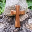 Fakereszt , Mindenmás, Vallási tárgyak, Almafából készült, falra akasztható kereszt. Mérete:13x7.5x2cm, Meska