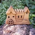 Fa házikó, fa vár, fa építő, Játék, Fajáték, Készségfejlesztő játék, Juharfából készült, szétszedhető gyerekjáték, vagy  szobadísz. Színtelen olajjal kezelve. ..., Meska