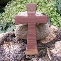 Fakereszt , Mindenmás, Vallási tárgyak, Feketediófából készült, falra akasztható kereszt. Mérete:19x12x2cm, Meska