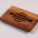 Fa szappantartó, Szépségápolás, Fürdőszobai kellék, Almafából készült szappantartó. Mérete:14,5x10,5x2cm , Meska
