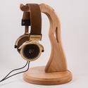 Fejhallgató tartó, Férfiaknak, Otthon, lakberendezés, Tárolóeszköz, Juharfából készült fejhallgató tartó. A kép minta. Mérete:27x18x2cm    , Meska