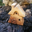 Fa házikó, fa építő, Játék, Fajáték, Készségfejlesztő játék, Juharfából készült, szétszedhető gyerekjáték, vagy  szobadísz. Színtelen olajjal kezelve. ..., Meska