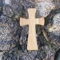 Fakereszt , Mindenmás, Vallási tárgyak, Tölgyfából készült, falra akasztható kereszt. Mérete:13x7.5x2cm, Meska
