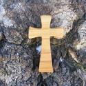 Fakereszt , Mindenmás, Vallási tárgyak, Cseresznyefából készült, falra akasztható kereszt. Mérete:13x7.5x2cm, Meska