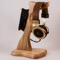 Fejhallgató tartó, Férfiaknak, Otthon, lakberendezés, Tárolóeszköz, Hegyijuharfából készült fejhallgató tartó.  Mérete:30x18x15cm     , Meska