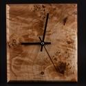 Fa falióra, faóra, Otthon, lakberendezés, Falióra, óra, Nyárfából készült falióra. Quartz, 1 elemes óraszerkezettel.  Mérete:24x22x2cm, Meska