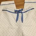 Pöttyös-masnis pizsama alsó, Táska, Divat & Szépség, Ruha, divat, Szuper puha pamutvászon anyagból varrtam ezt a csini pizsama alsót. Derekánál és a lábán díszítő csí..., Meska